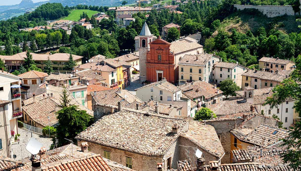 L'antico borgo di Pennabilli, in Emilia Romagna