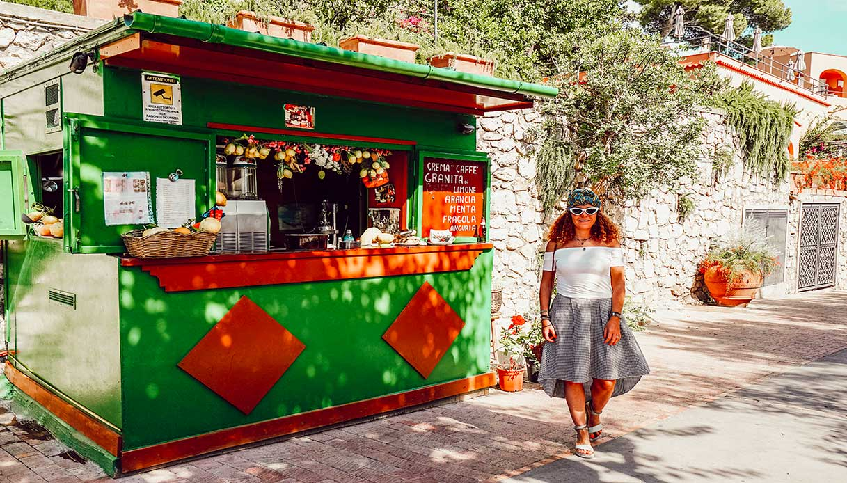 Capri via Tragara belvedere