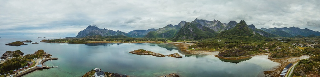 Isole Lofoten d'estate