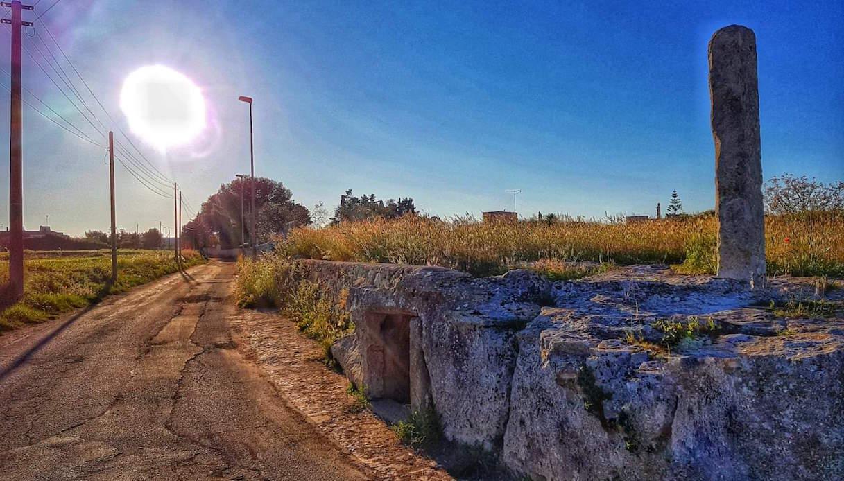 Uno dei menhir di Giurdignano