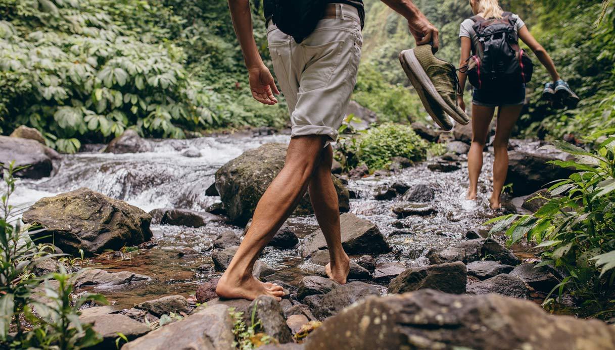 piedi nudi nel bosco