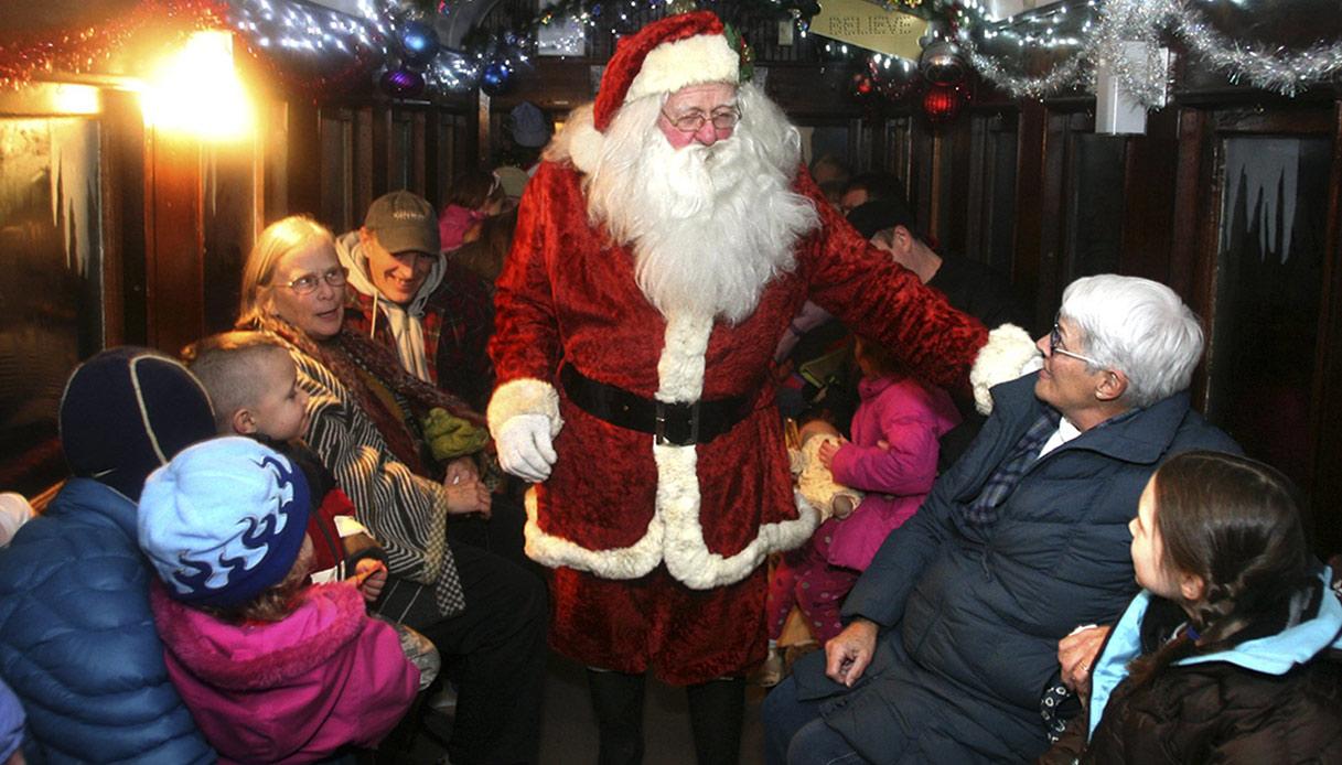 Babbo Natale a bordo del Polar Express