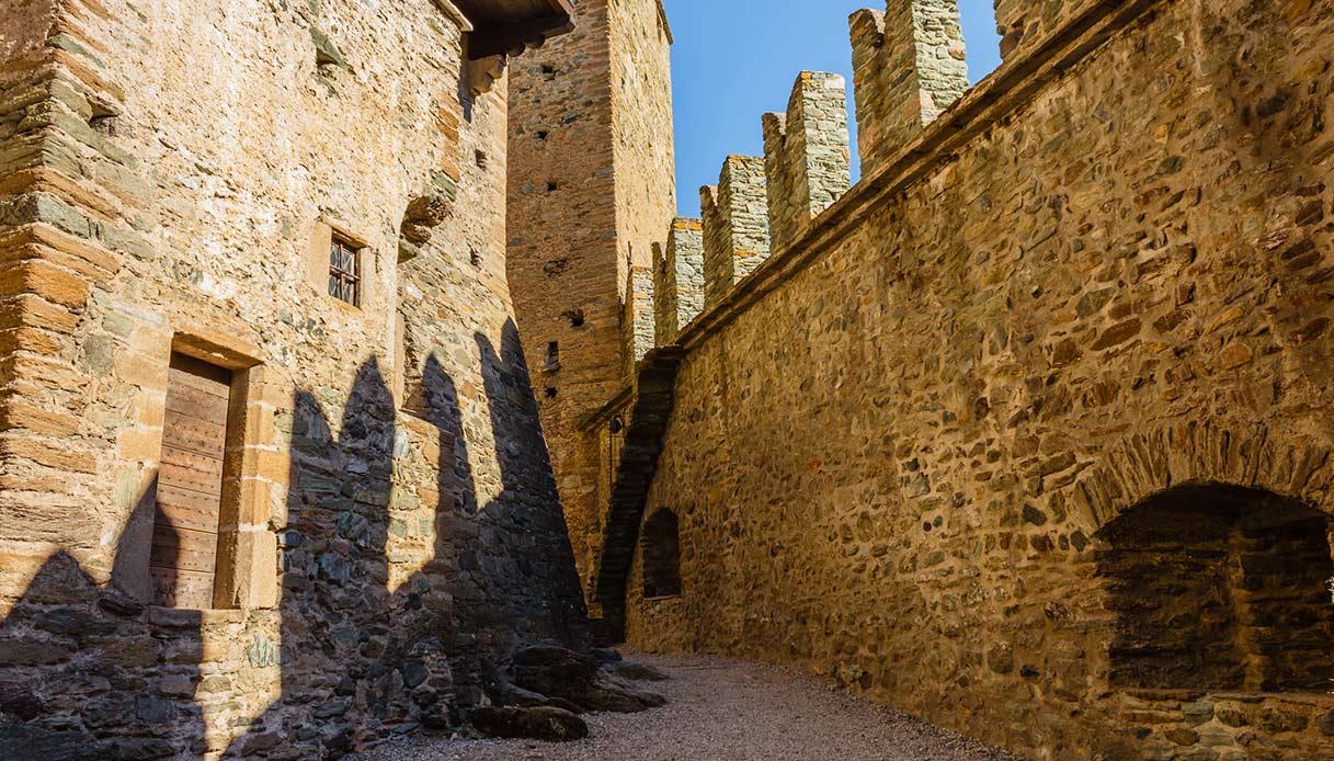 Interno del castello di Fénis