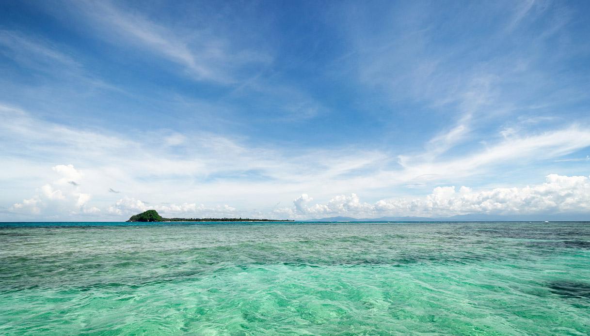 Isola di Montanani nel Borneo
