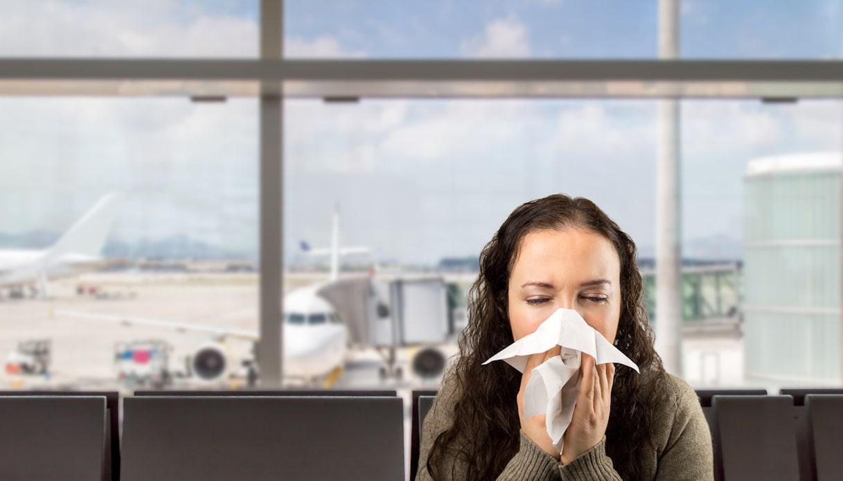 ammalarsi in aereo