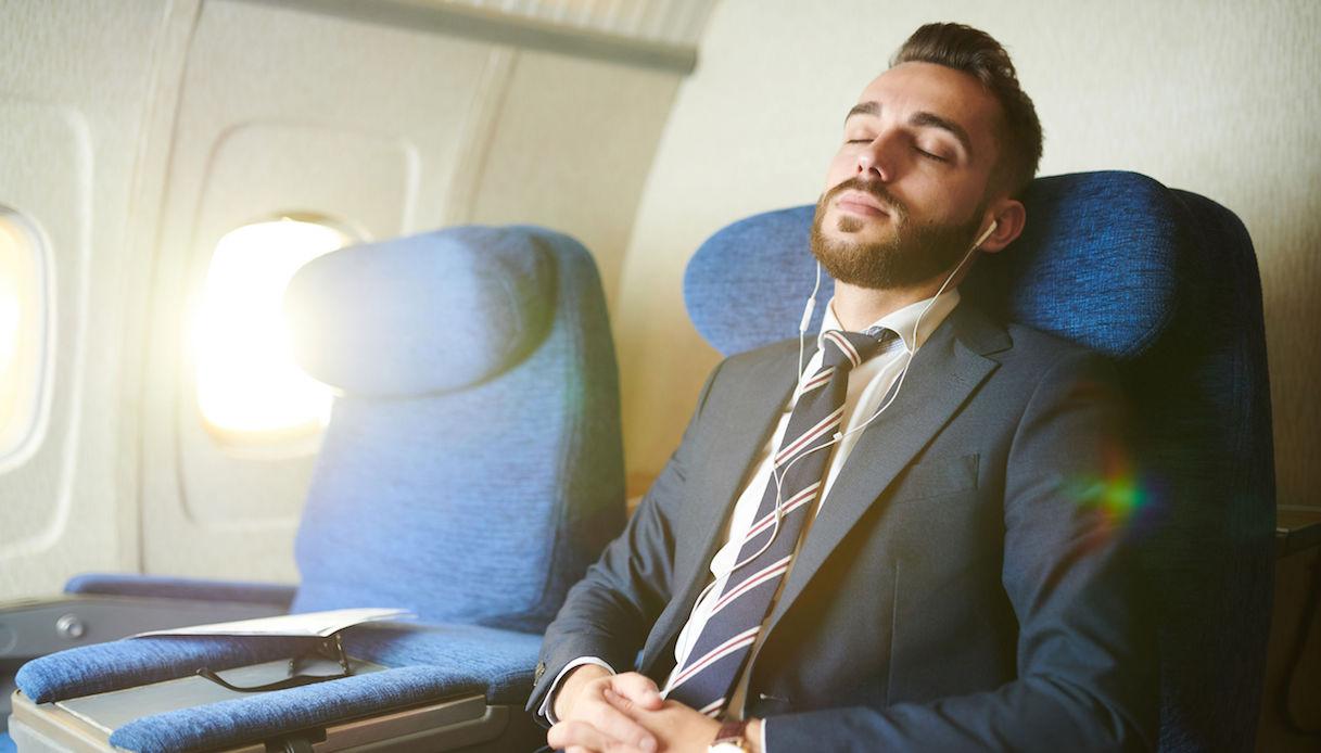 rilassarsi in aereo