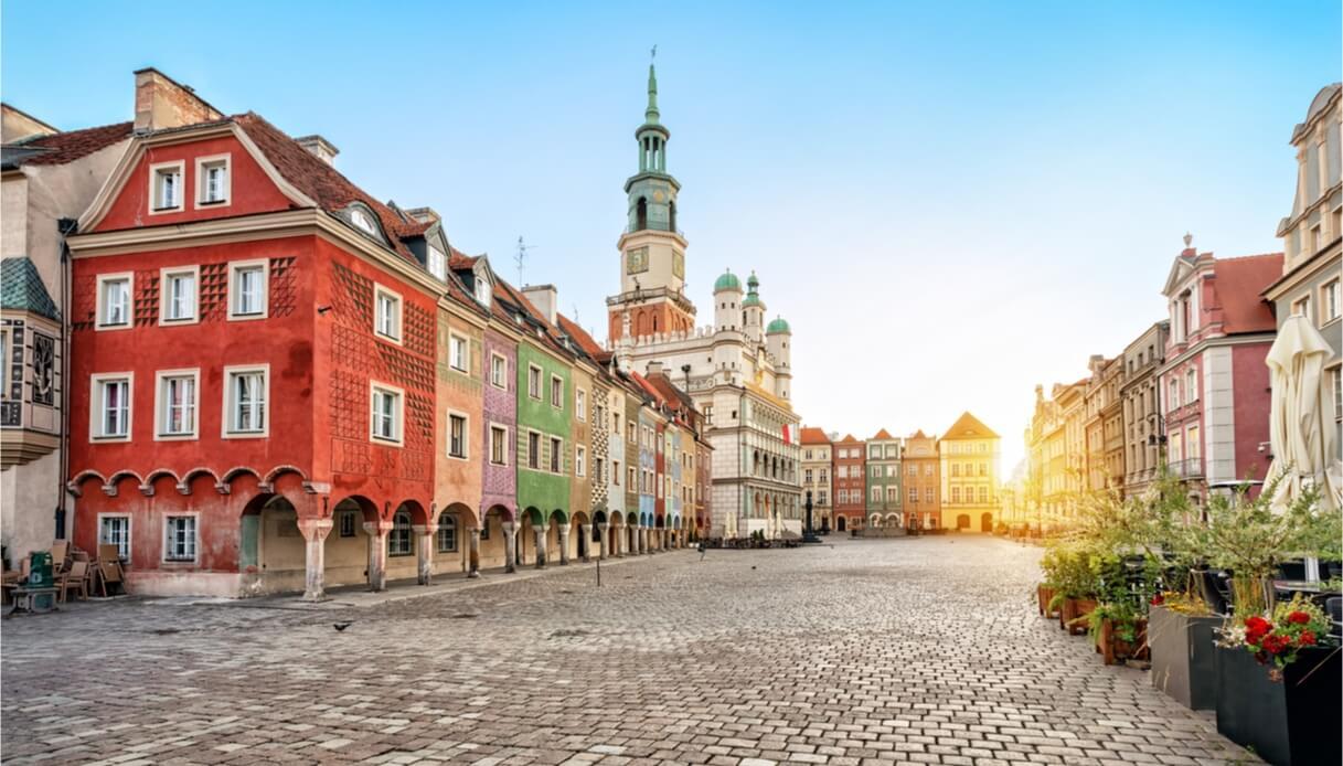 Vista sulla città di Poznan