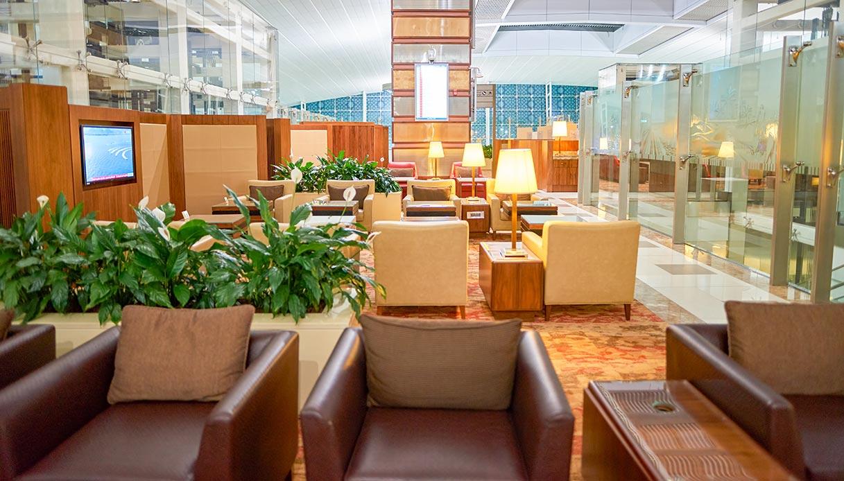 Sala lounge in aeroporto