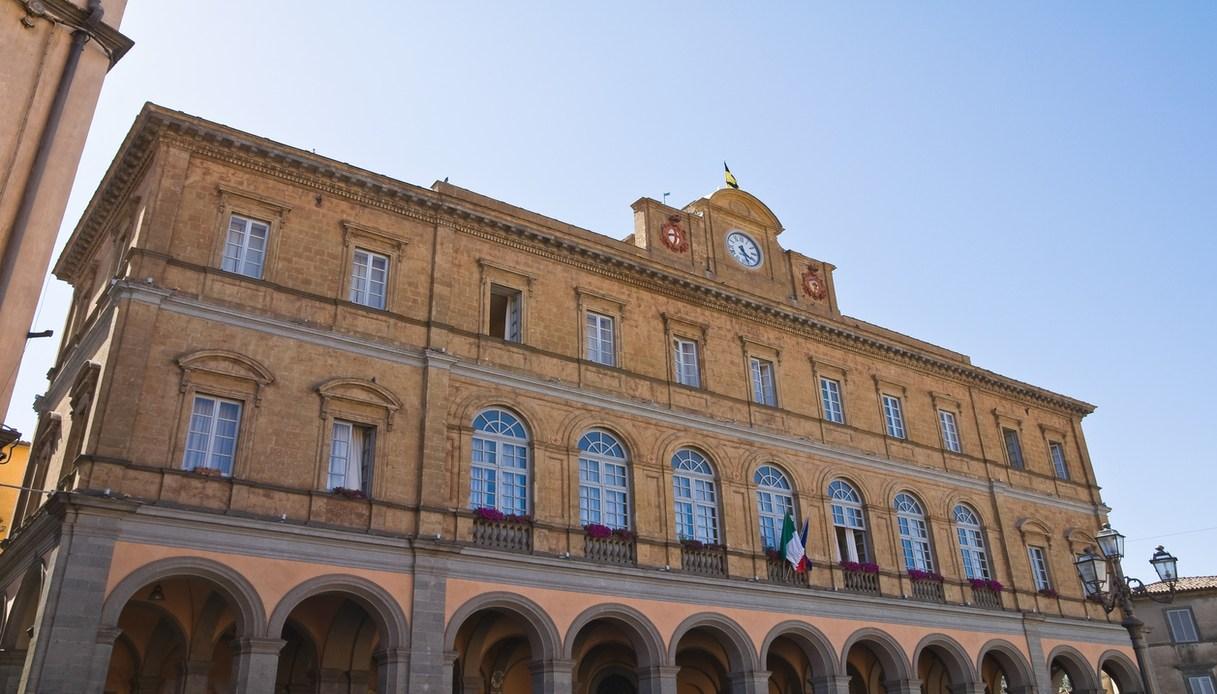 il palazzo del comune ad acquapendente Lazio