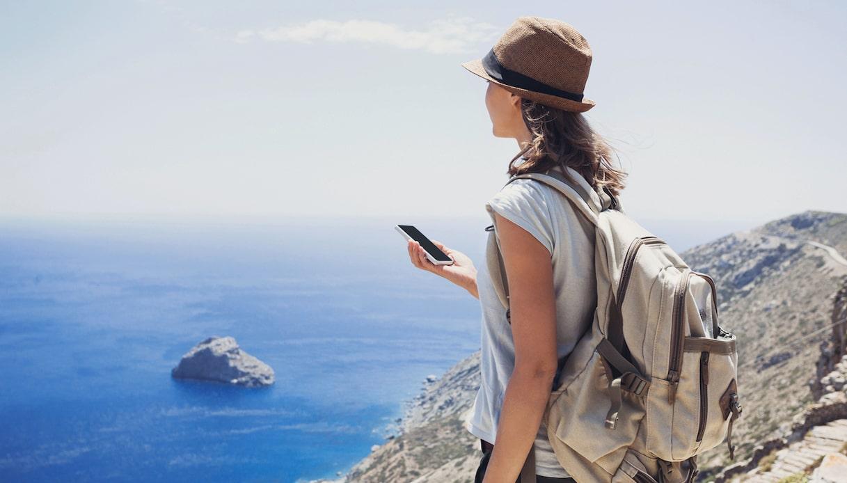 smartphone in viaggio