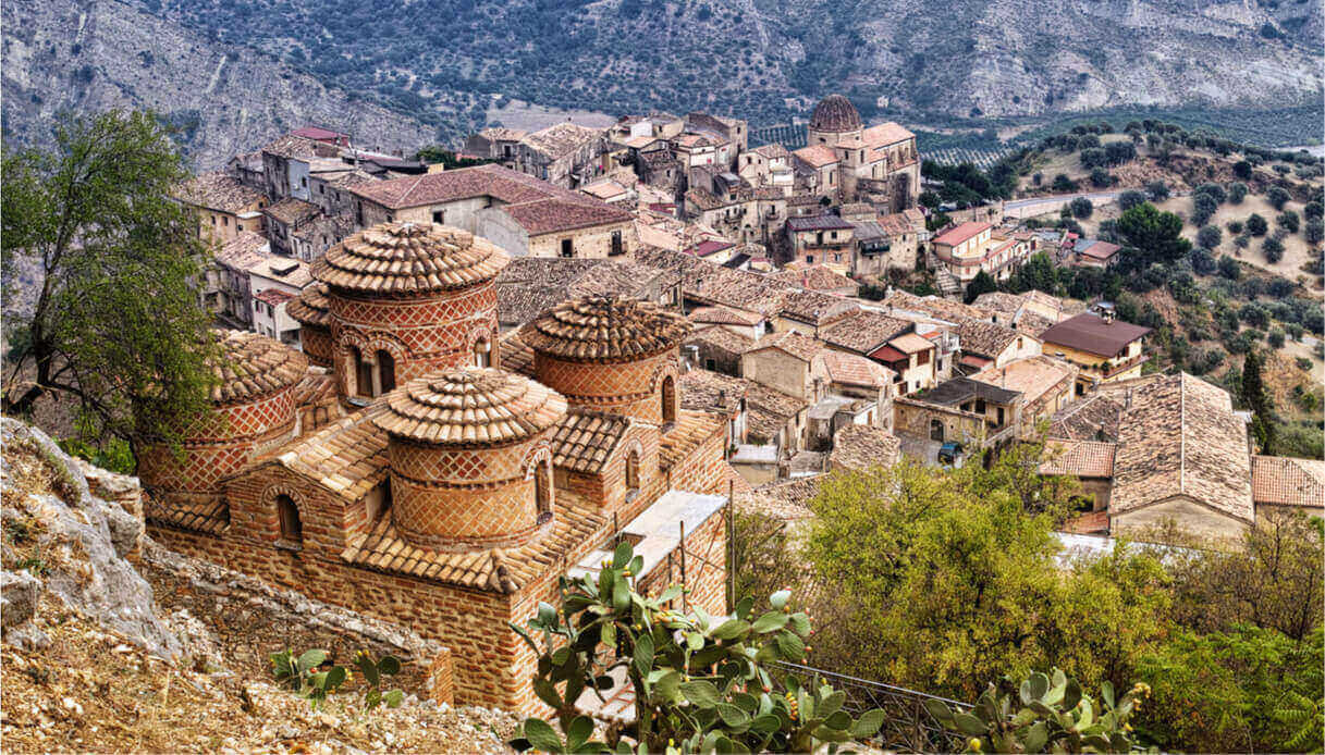 Panorama del borgo di Stilo
