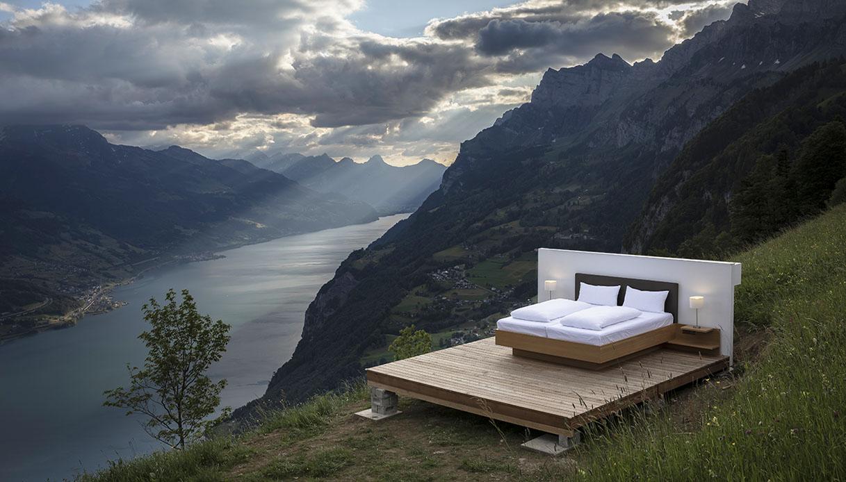 Dormire in un hotel senza pareti Svizzera heidiland