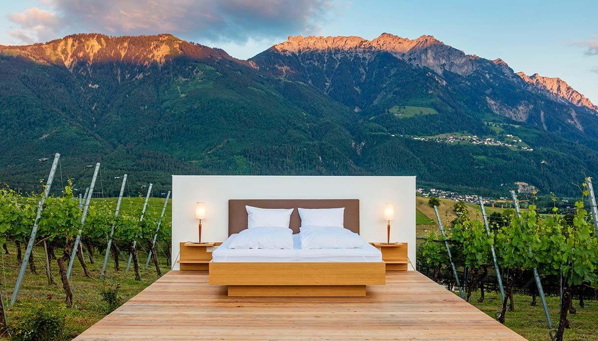 Dormire in un hotel senza pareti Svizzera Fursten Suite