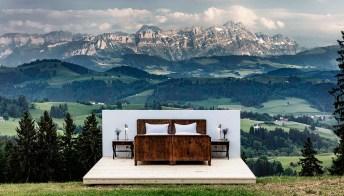 Dormire in un hotel senza pareti, in Svizzera
