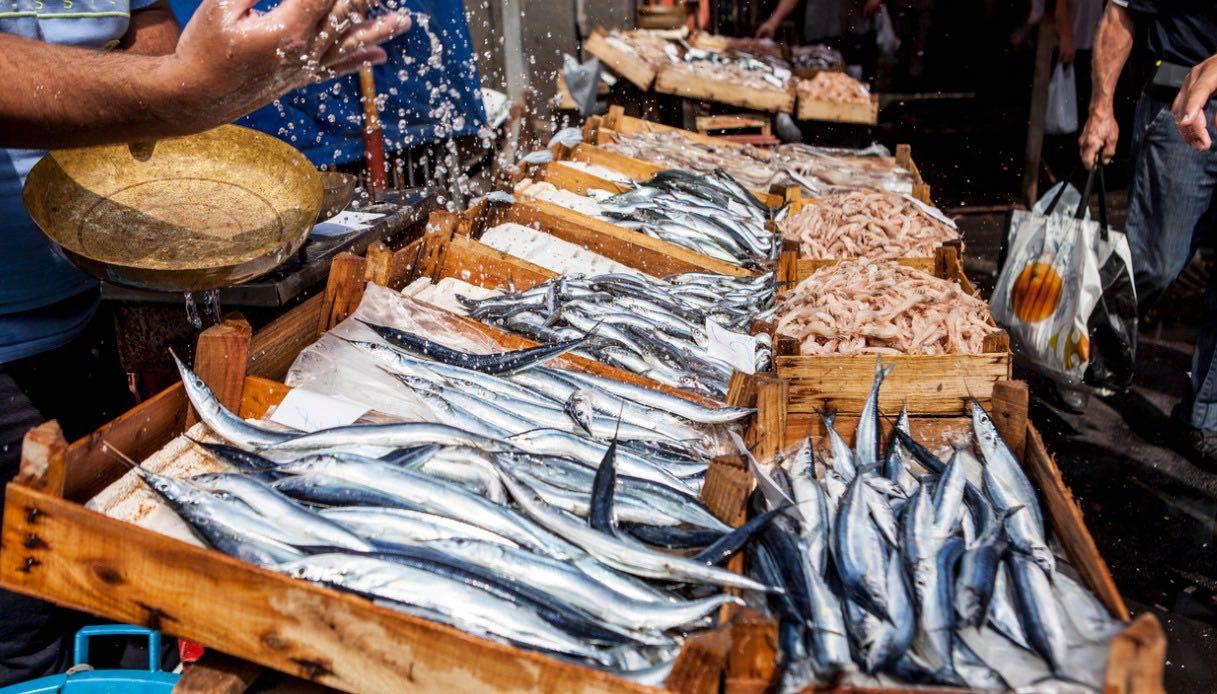 mercato di Catania del pesce