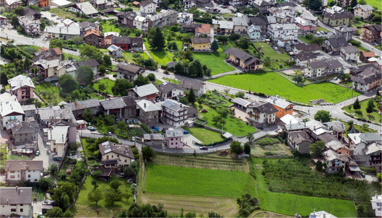 Vista aerea di Gressan