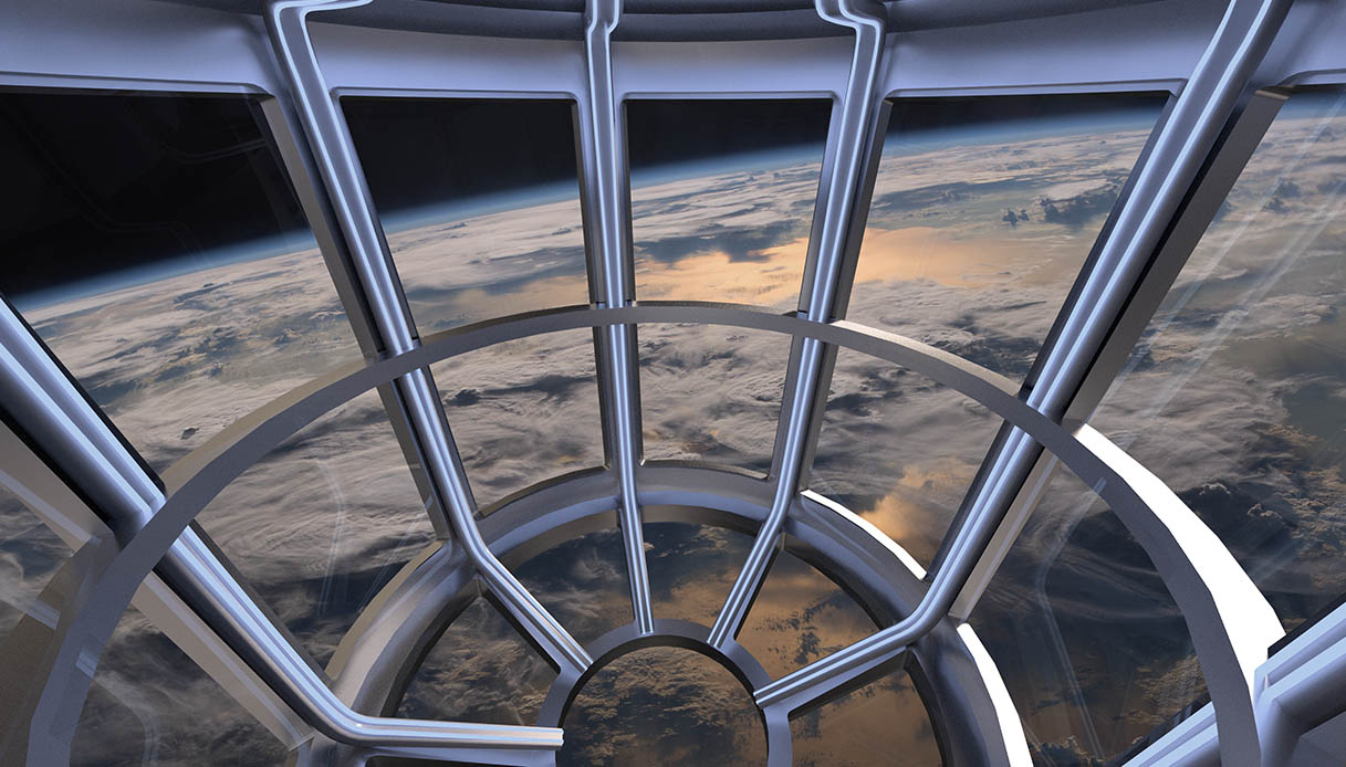 finestra panoramica sulla Terra