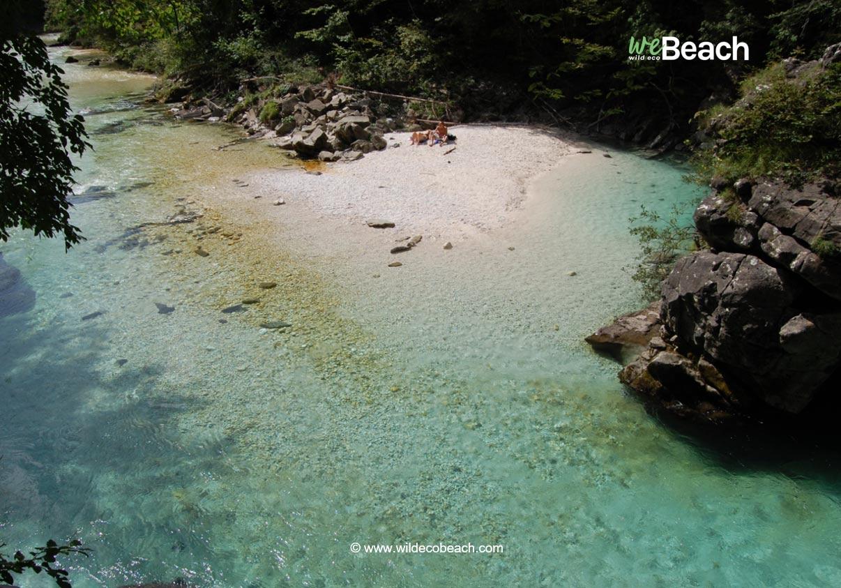 Spiaggia del Ponticello, Fiume Isonzo