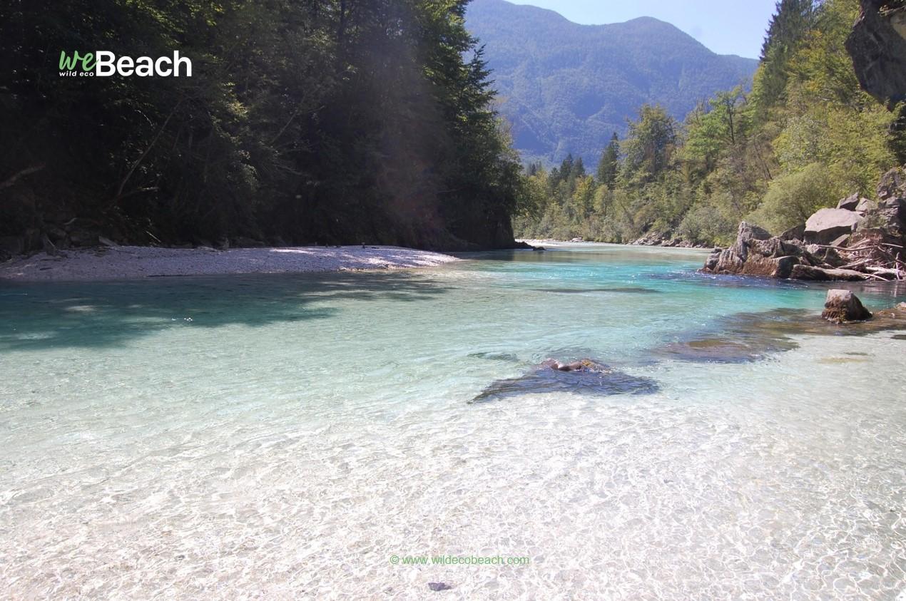 Spiaggia della Laguna Blu, Fiume Isonzo