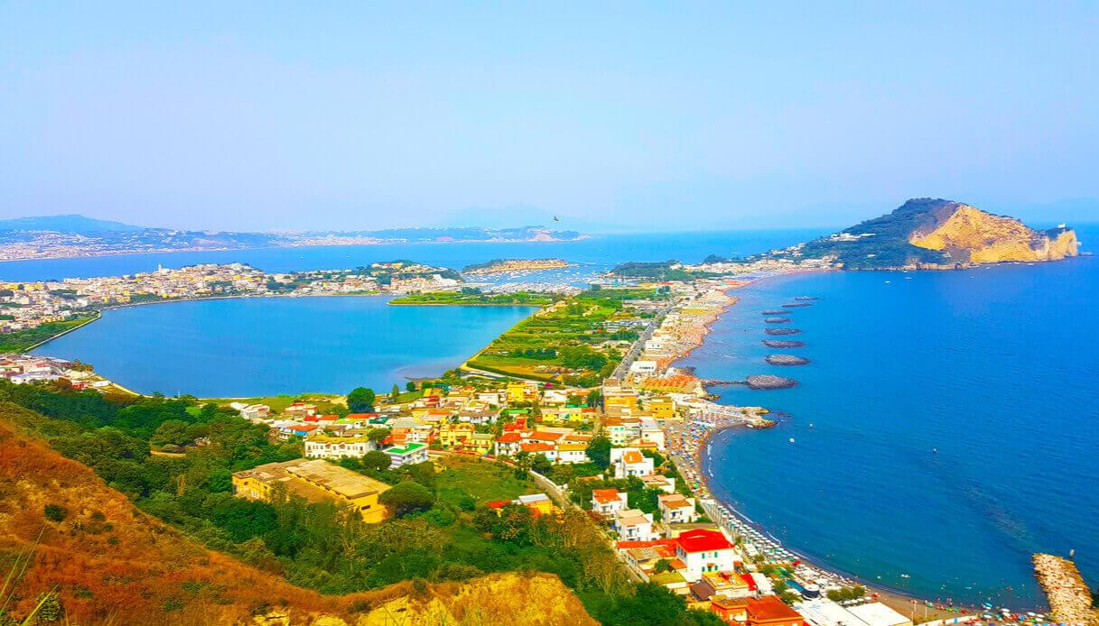Panorama dall'alto di Bacoli