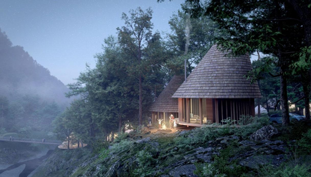 Un campeggio ispirato alla principessa Mononoke