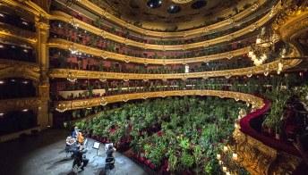 L'opera di Barcellona ha riaperto le scene per un pubblico di oltre 2000 piante