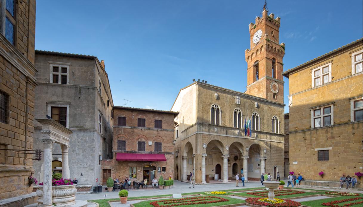 Piazza Pio II a Pienza