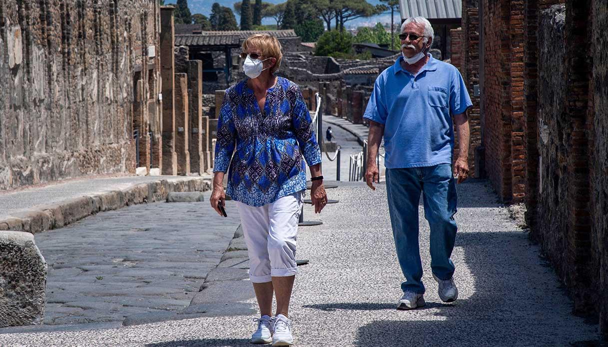La coppia a Pompei