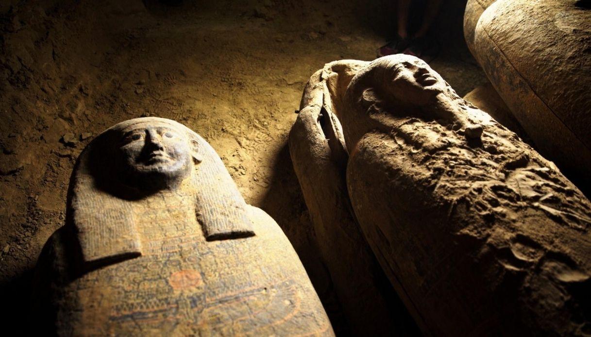 Saqqara citta Egitto 27 sarcofagi