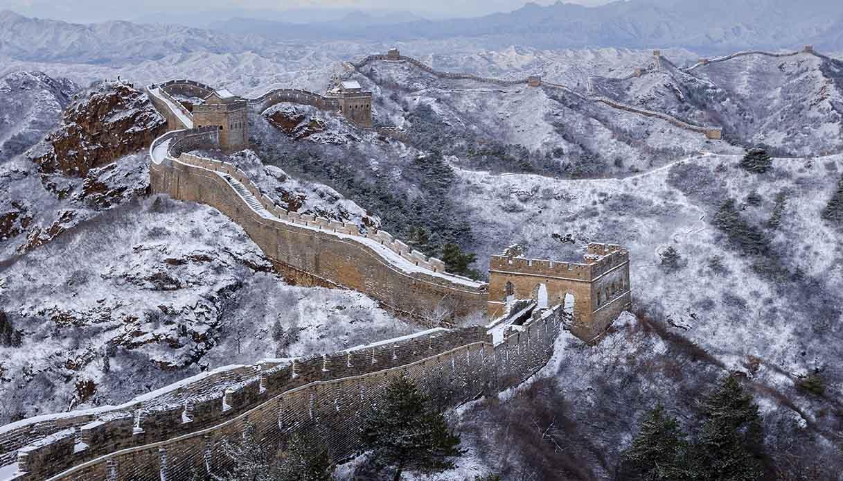 Grande Muraglia Cinese innevata