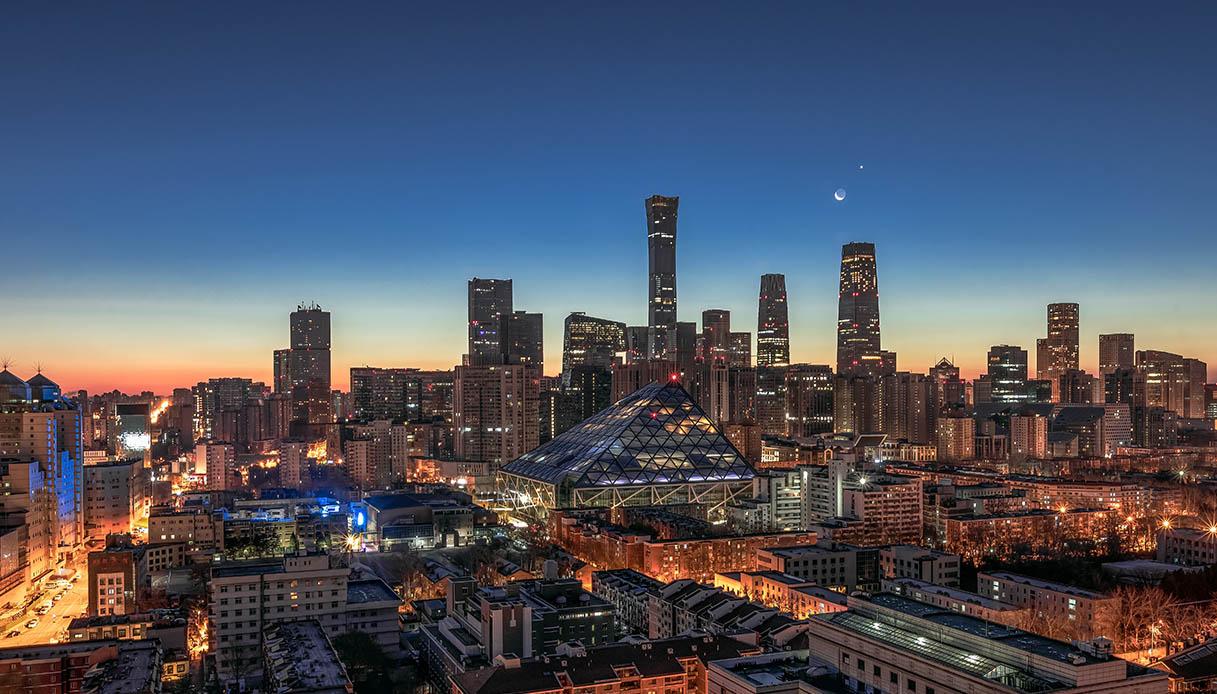 Congiunzione Luna e Venere a Pechino