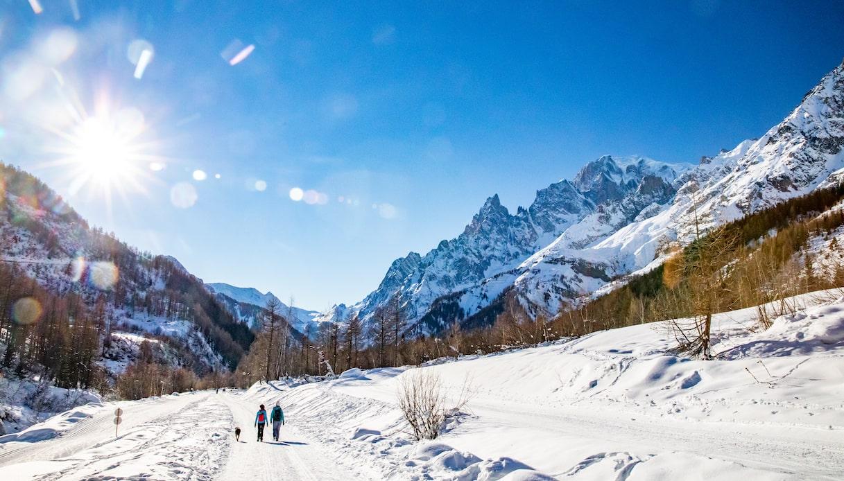 Val Ferret, sci di fondo