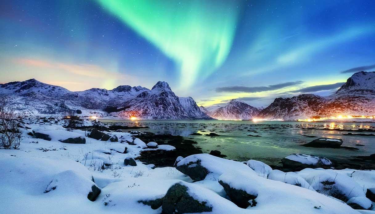 aurora boreale storia bambina nata luci nord