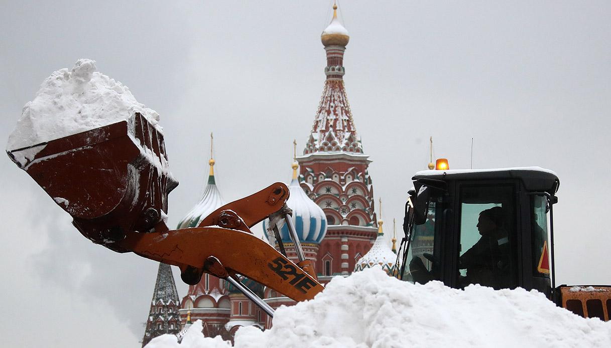 Spazzaneve a Mosca