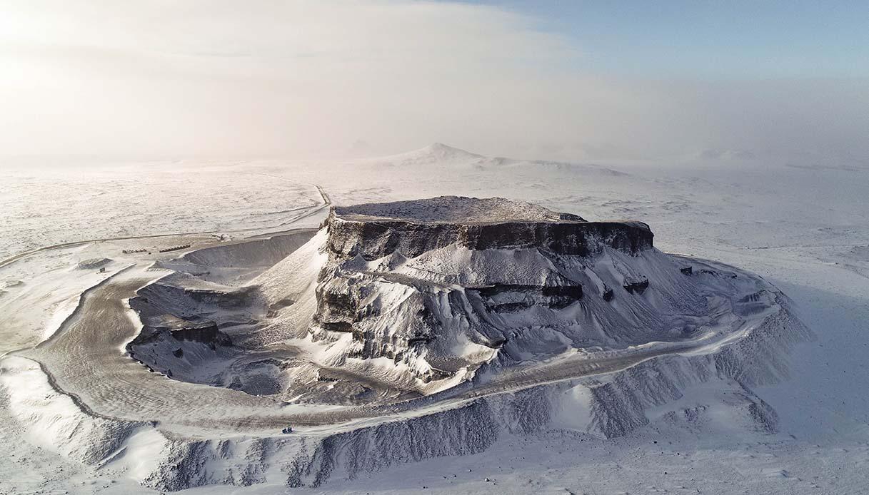 neve sui vulcani