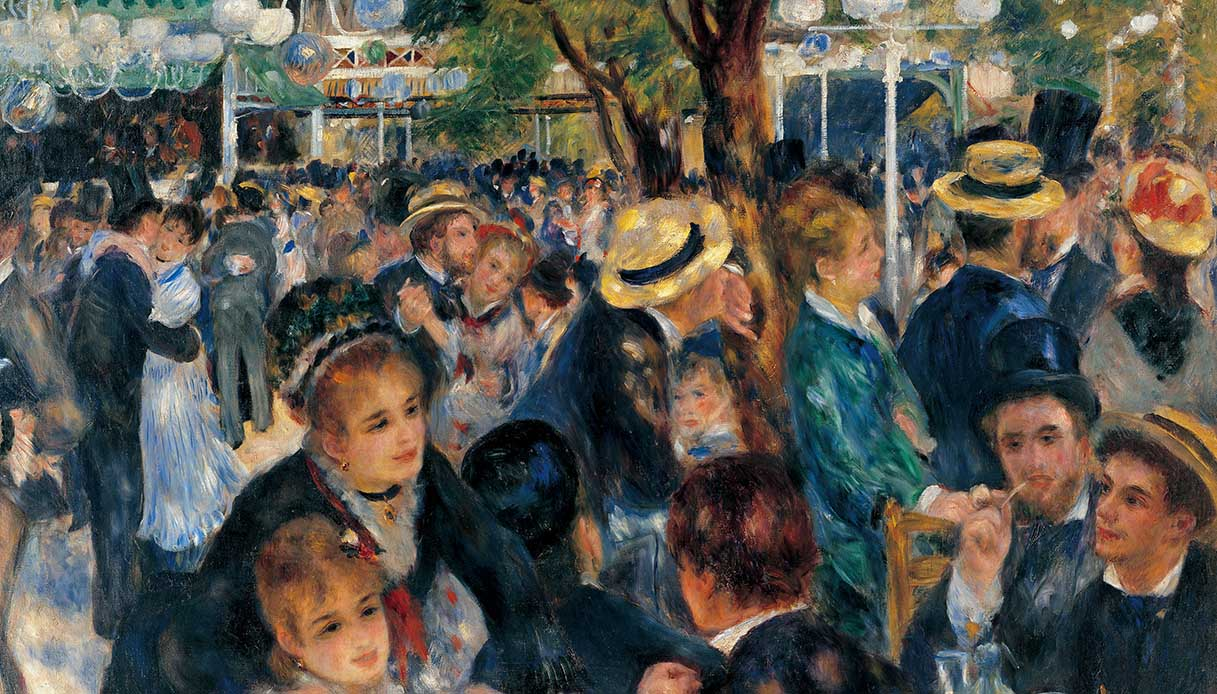 Dance at Le moulin de la Galette (Il Bal au Moulin de la Galette), by Pierre-Auguste Renoir, 1876, 19th Century, oil on canvas, 131 x 175 cm