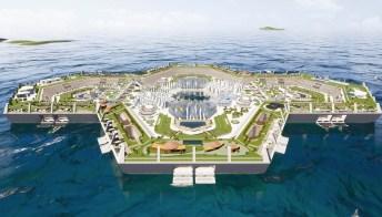 Blue Estate: l'isola artificiale galleggiante nel Mar dei Caraibi