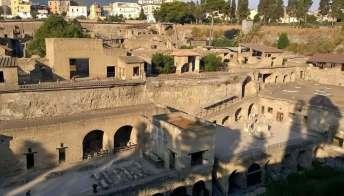 Parco archeologico di Ercolano, nuovi scavi nell'antica spiaggia