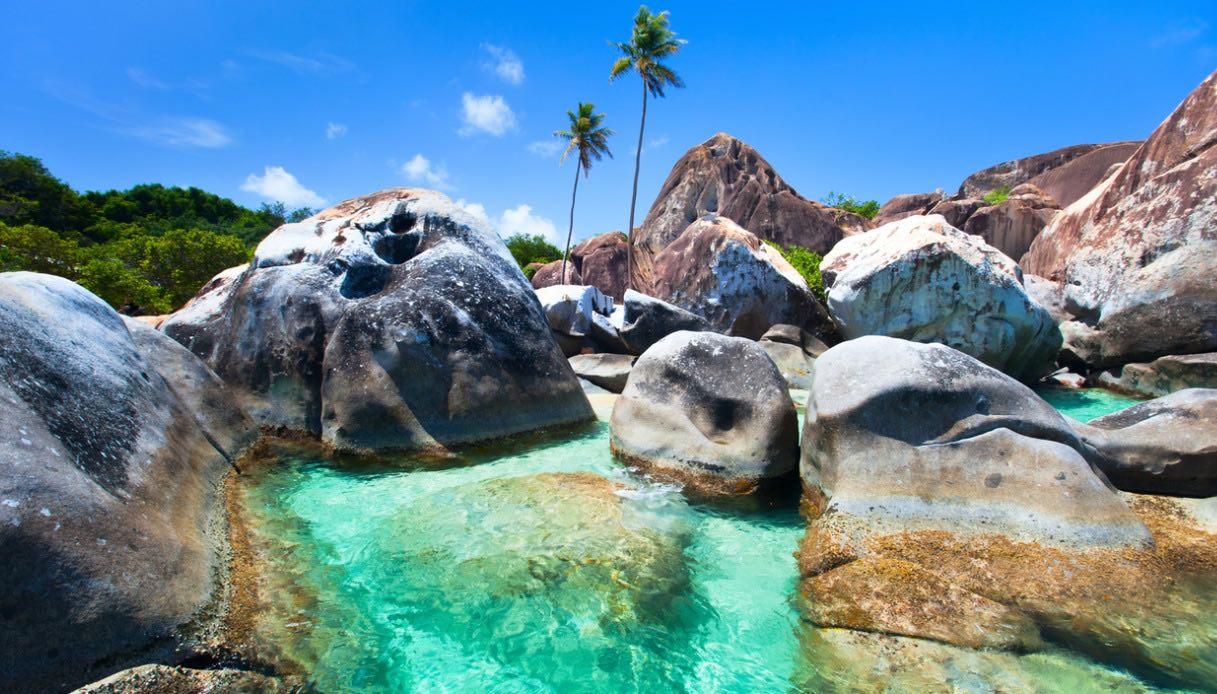 Baths beach isole vergini britanniche