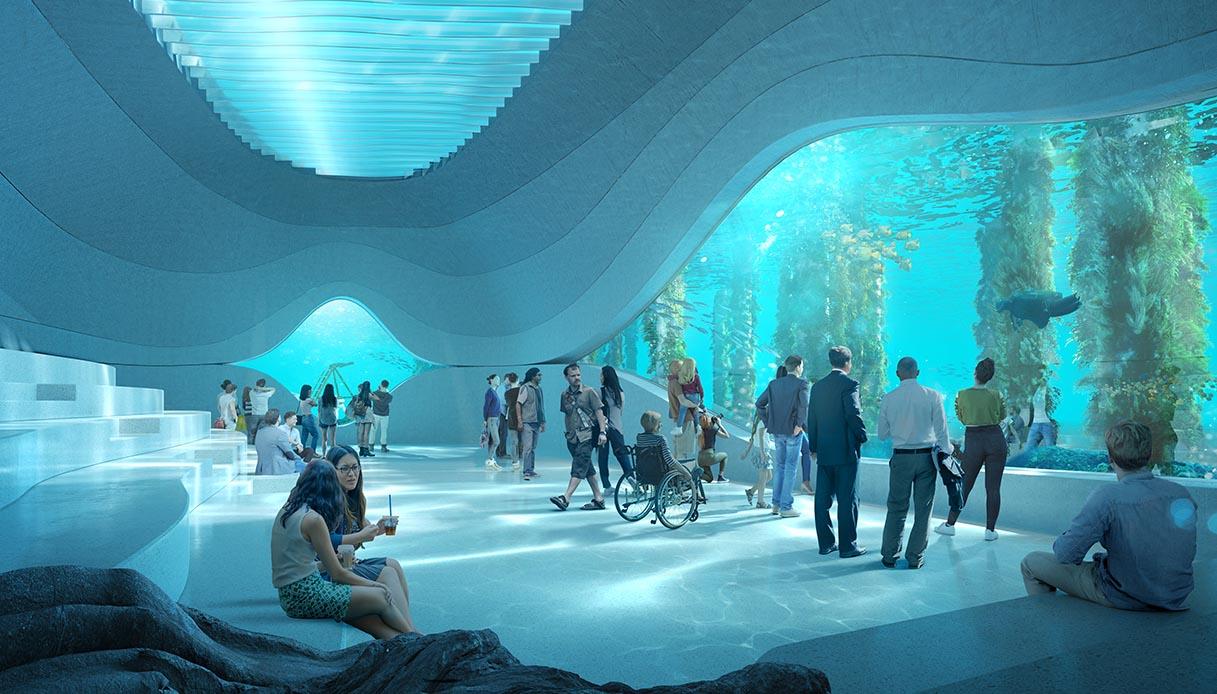 Underwater Discovery Centre, interni