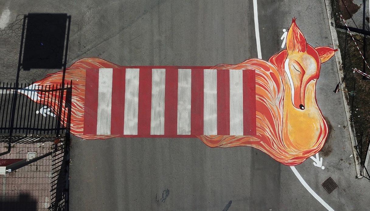 Le nuove strisce pedonali di Campobasso sono opere d'arte. E sono dedicate ai bambini