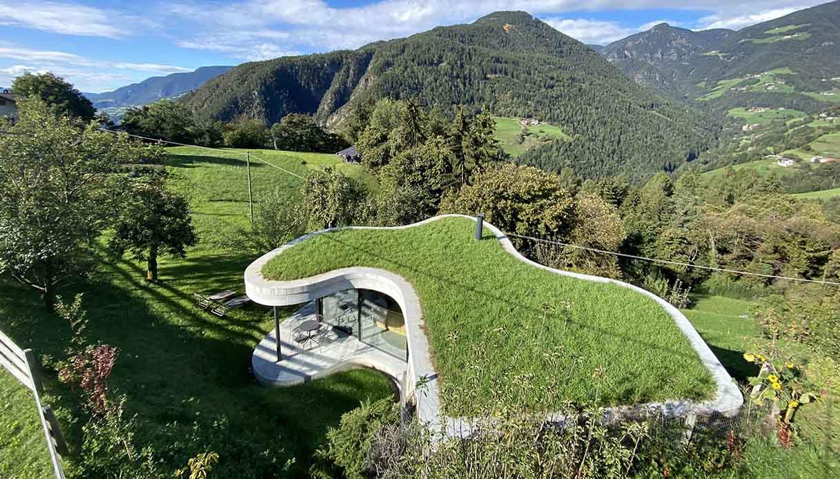 Guest house che si mimetizza con la natura