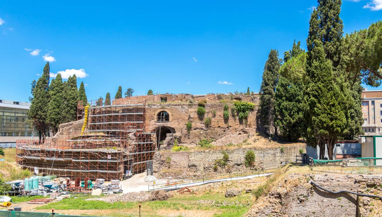 mausoleo augusto prima del restauro