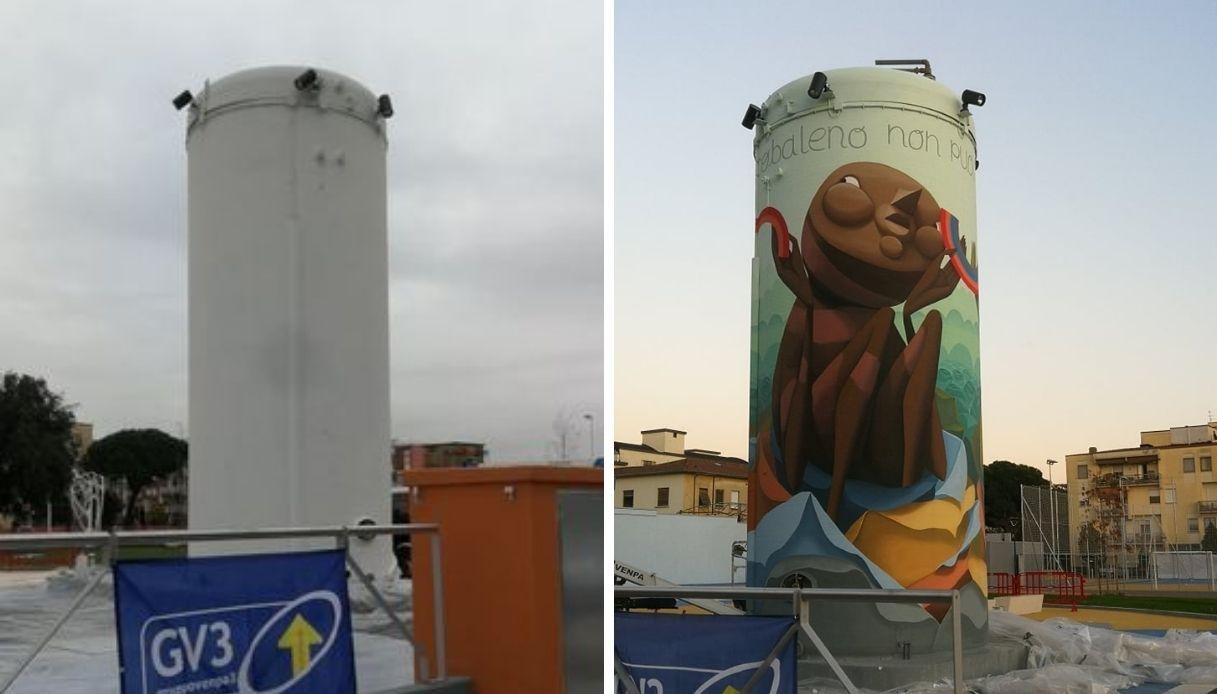 prima e dopo silos