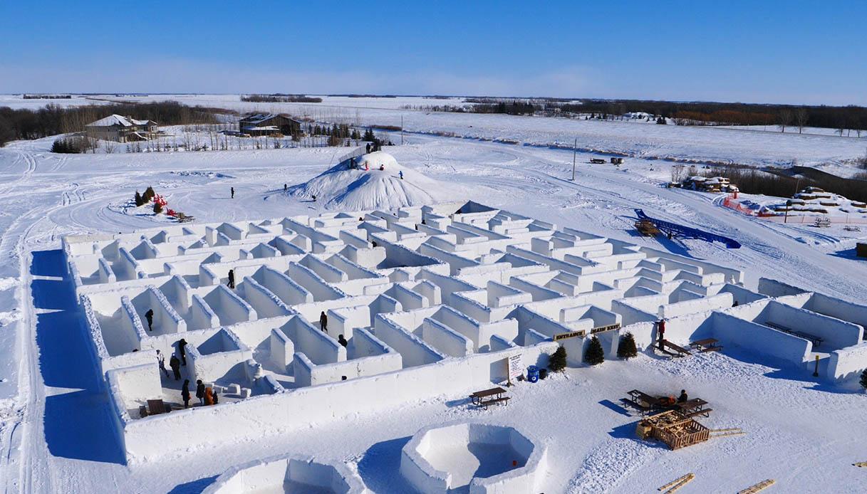 Labirinto di neve più grande del mondo