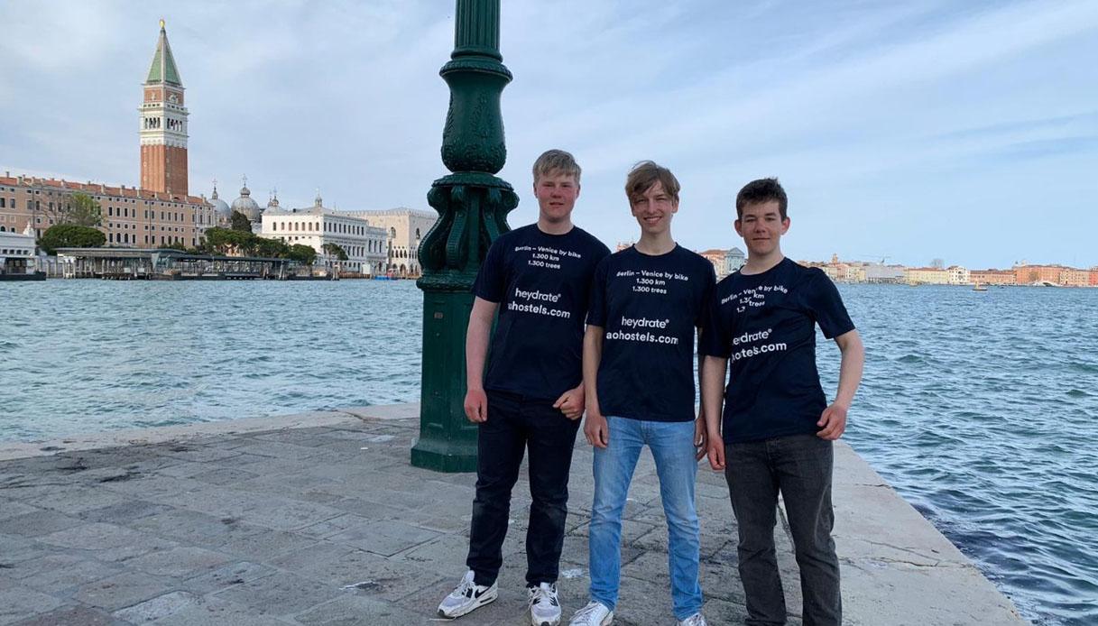 Paul, Oliver, Friedrich a Venezia