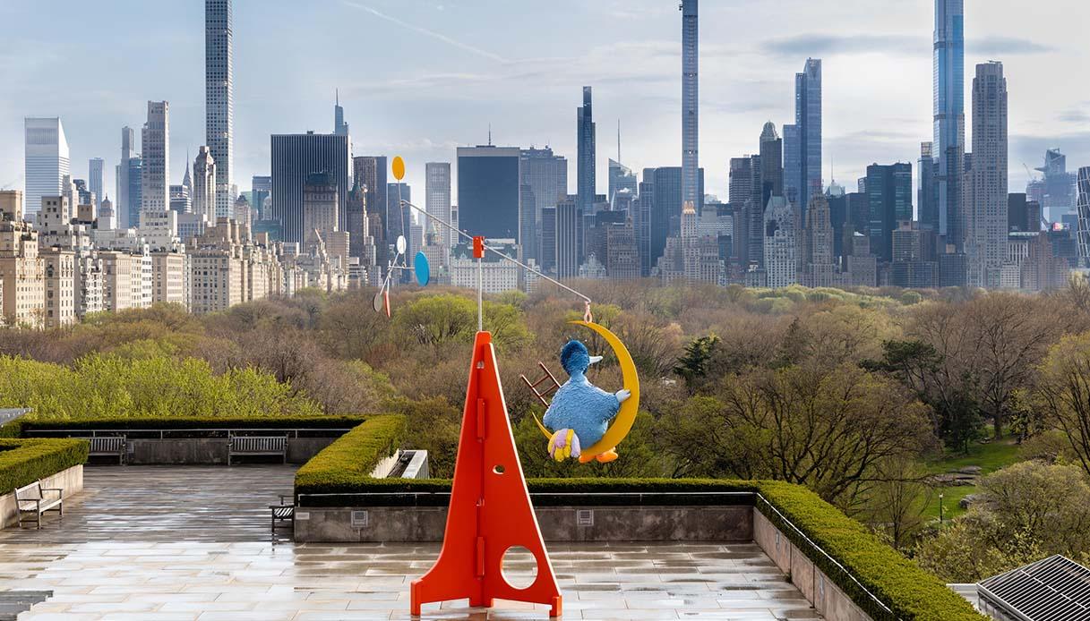 Big Bird sui tetti del Met