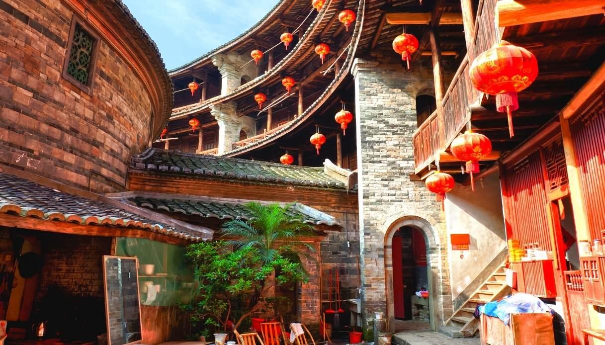 Tulou di Fujian, interno