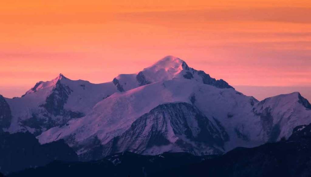 monte-bianco-tramonto