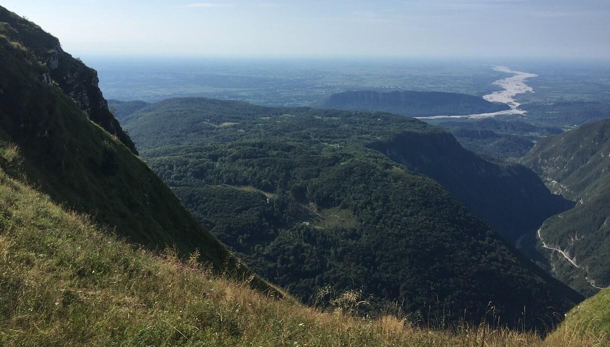 panorama dalla cima del monte cuar